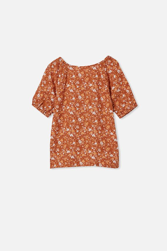 Frankie Short Sleeve Top, PINK PUNCH