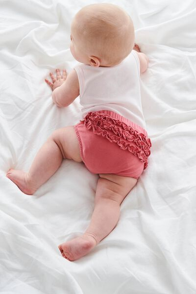 Stella Ruffle Bloomers, RUSTY BLUSH