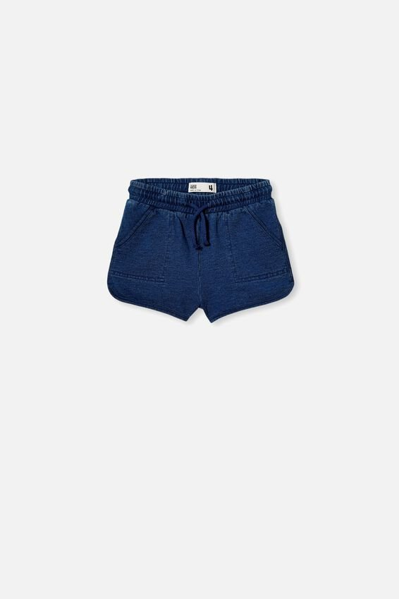 Nina Knit Short, MID BLUE WASH