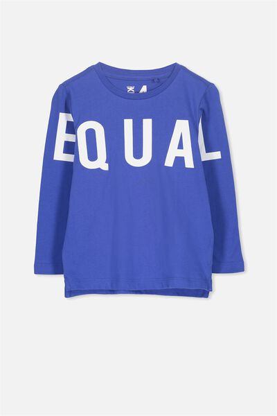 Tom Long Sleeve Tee, SCUBA BLUE/EQUAL SIS