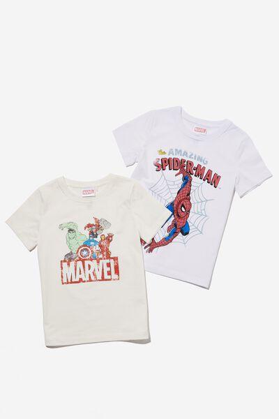 Multipack Short Sleeve License Tee Two Pack, SPIDERMAN/MARVEL