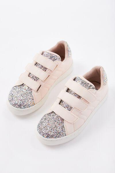 Gracie Glitter Sneaker, NUDE