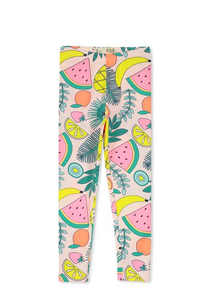 Huggie Tights, PASTEL PINK/FRUITY FOLIAGE