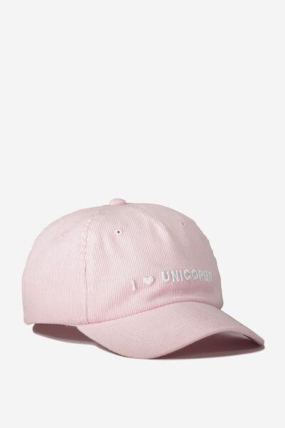 Baseball Cap, CRADLE PINK/CORDUROY