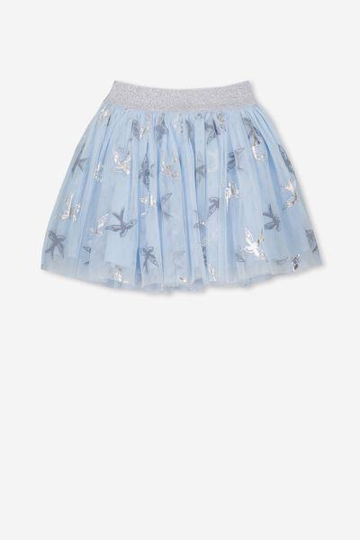 Trixiebelle Tulle Skirt, ARTIC BLUE BIRDS