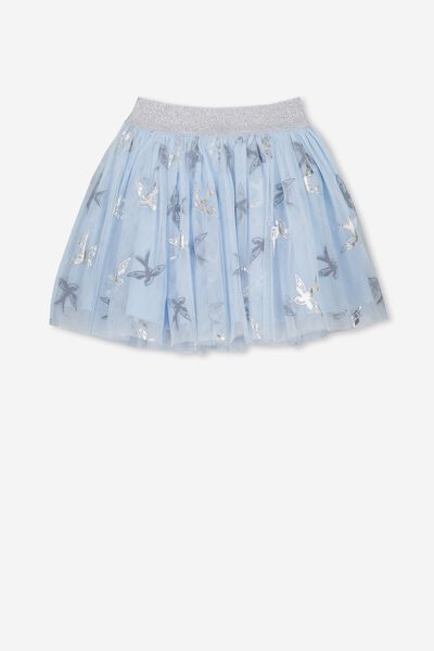 Trixiebelle Tulle Skirt, ARTIC BLUE BIRDS