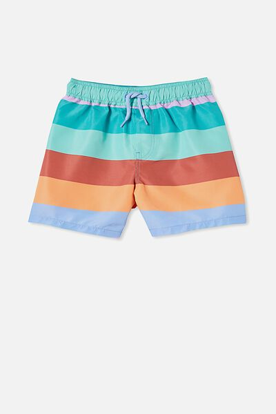 Bailey Board Short, DUSK BLUE/MULTI STRIPE