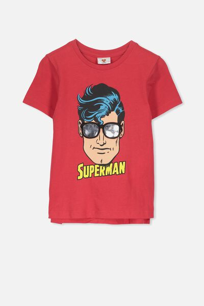 Short Sleeve License1 Tee, SOPHIE RED/INTERACTIVE SUPERMAN