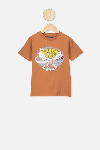 Co-Lab Short Sleeve Tee, LCN WMG GINGERBREAD/GREEN DAY
