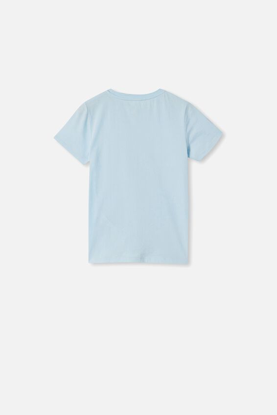Stevie Short Sleeve Embellished Tee, FROSTY BLUE/ SEQUIN CROWN