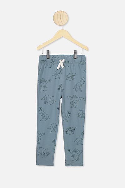 Brooklyn Slouch Pant, DEEP POOL BLUE DINO
