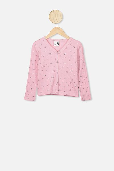 Bessie Button Through Top, MARSHMALLOW FLORAL FIELDS