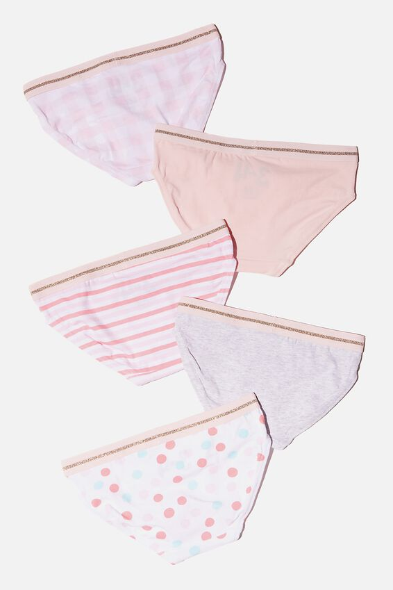 Girls 5 Pack Underwear, MULTI PATTERN