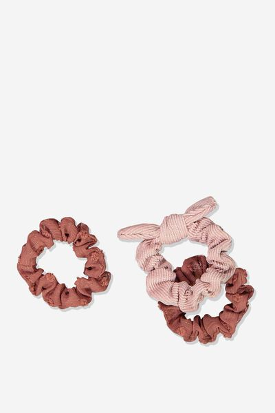 Mini Scrunchie, RUSTY BLUSH