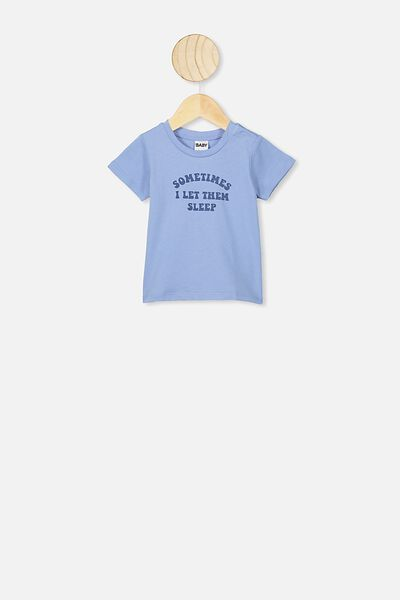 Jamie Short Sleeve Tee, POWDER PUFF BLUE/LET THEM SLEEP