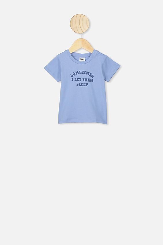 Jamie Short Sleeve Tee, POWDER PUFF BLUE LET THEM SLEEP