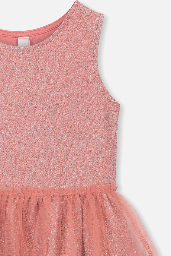 Iris Tulle Dress, RUSTY BLUSH/SPARKLE