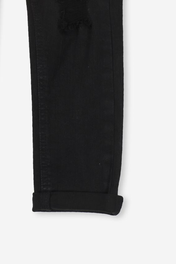 Indie Slouch Jeans, BLACK