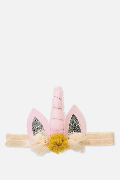 Baby Fashion Headbands, PINK/UNICORN