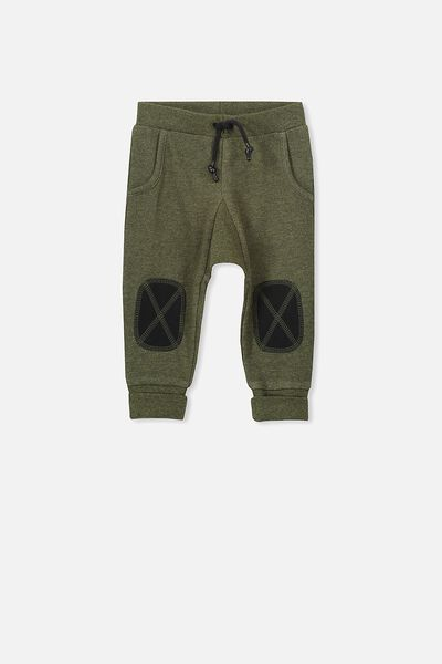 Shelby Trackpant, KHAKI MARLE/PATCHES