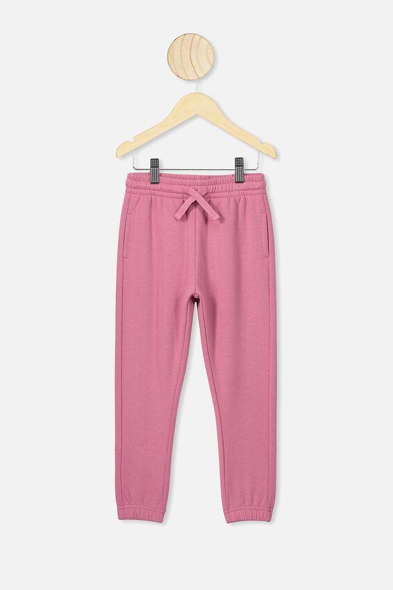 Kiera Cuff Trackpants, VERY BERRY