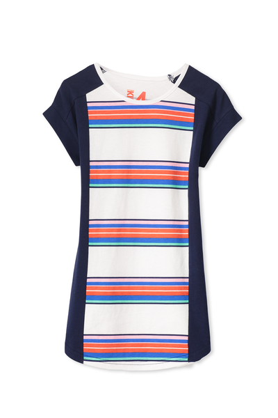 Darcy Short Sleeve Dress, STRIPE/PEACOAT