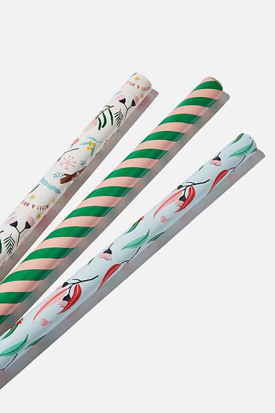 Kids Gift Wrap 3Pack, AUSTRALIANA