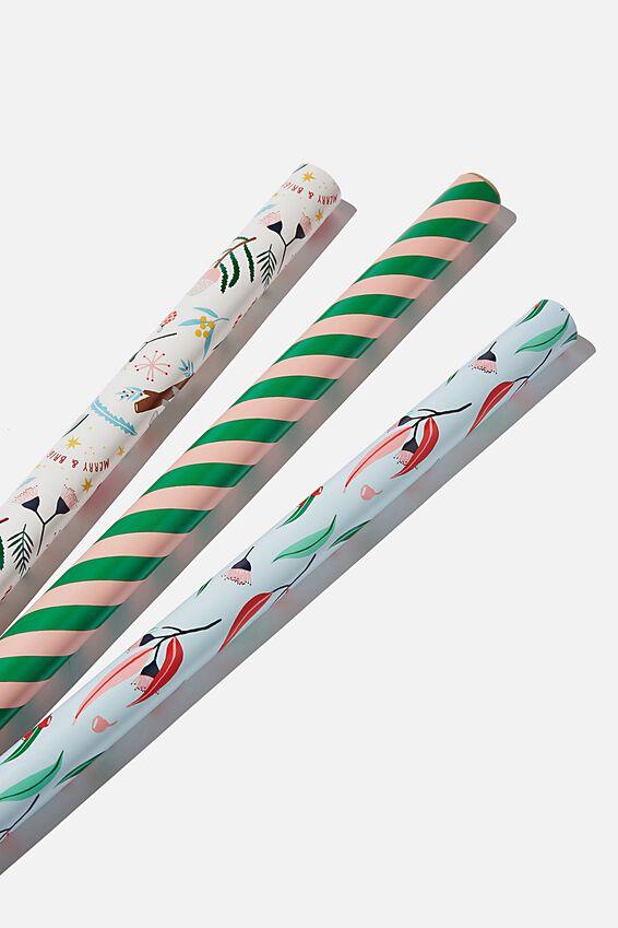 Kids Gift Wrap 3Pack, AUSTRALIANA