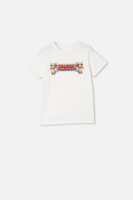 Max Short Sleeve Tee, RETRO WHITE / DRAGON WARRIORS