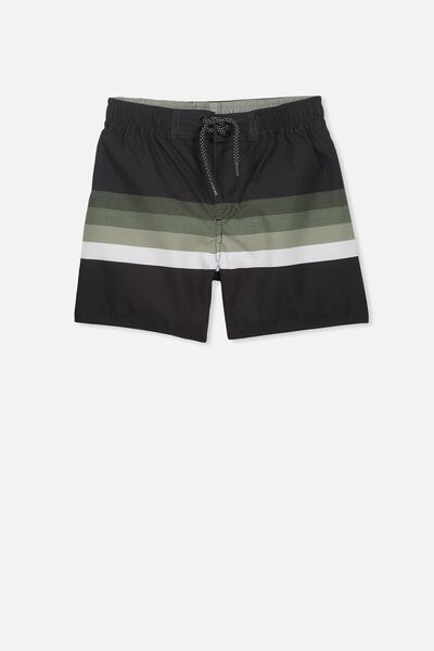 Bailey Boardshort, BLACK/KHAKI GRADIENT