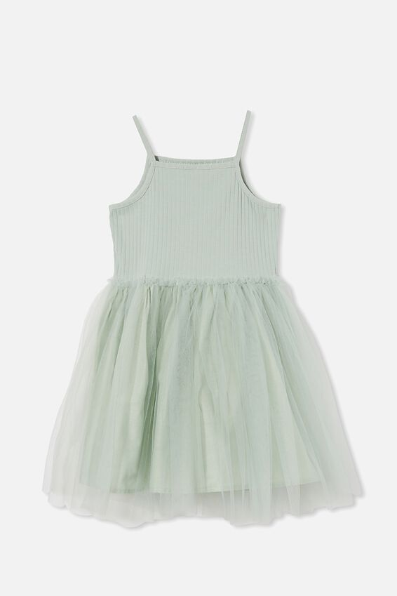 Ines Dress Up Dress, STONE GREEN