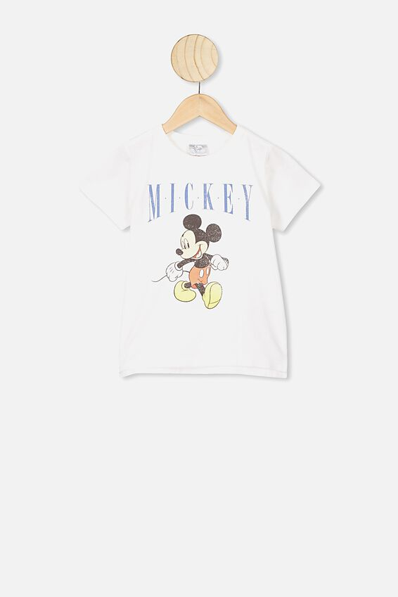 Mickey Retro Short Sleeve Tee, LCN DIS MICKEY RETRO WHITE