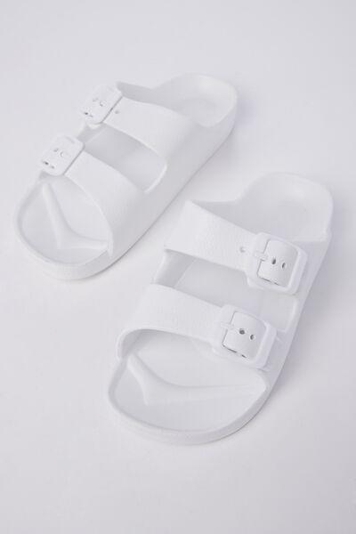 Twin Strap Slide, WHITE