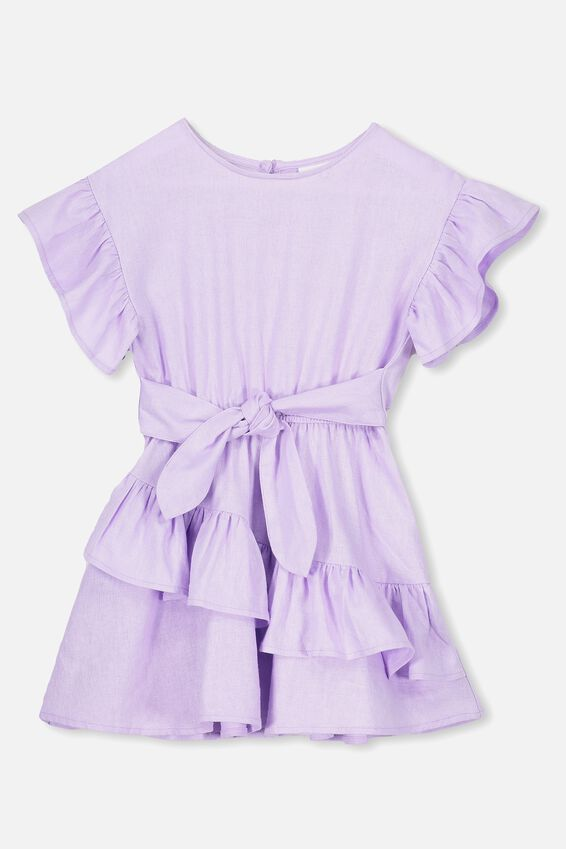 Jodie Short Sleeve Dress, BABY LILAC