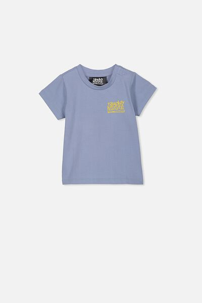 Jamie Short Sleeve Tee, LCN MT DUSTY BLUE NAUGHTY BY NATURE