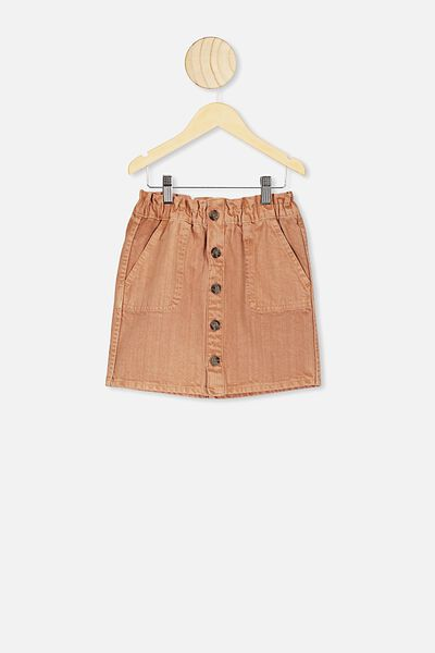 Carmella Denim Skirt, DUST STORM