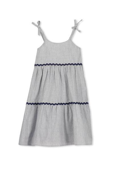 Molly Dress, PEACOAT/SILVER STRIPE