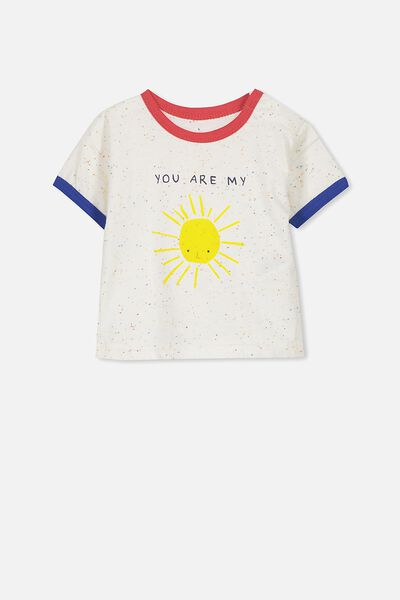 Ginger Ss Tee, SPECKLE OATMEAL MARLE/MY SUNSHINE