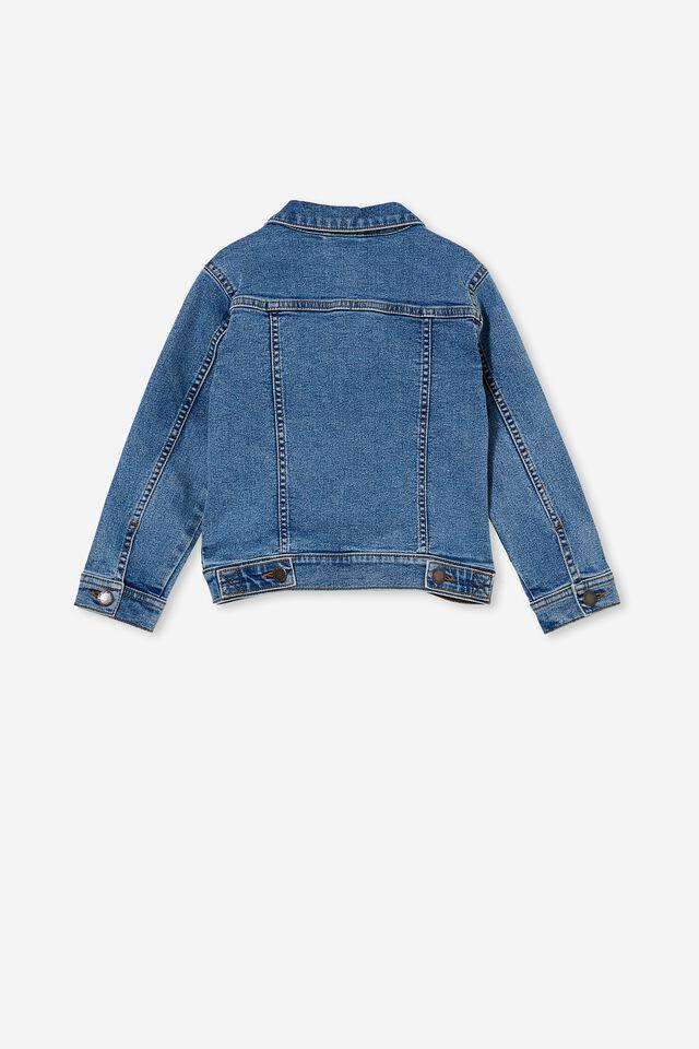 Relaxed Denim Jacket, BONDI MID BLUE