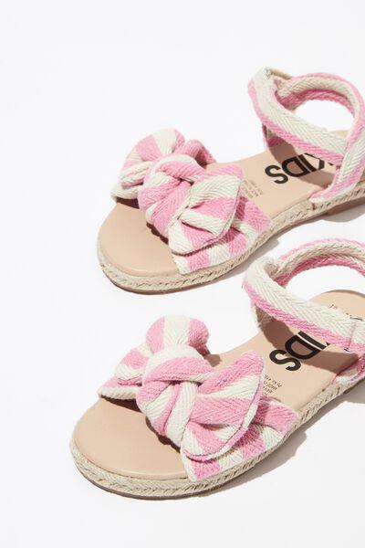 Bow Espradrille Sandal, PINK