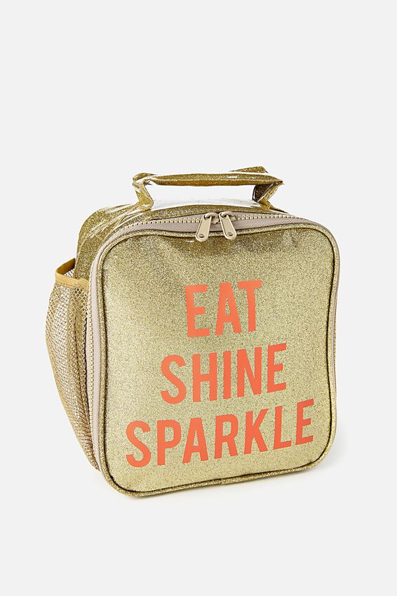 Kids Fancy Lunch Bag, GOLDY GLITTER