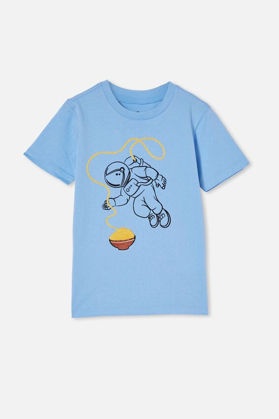 Downtown Short Sleeve Tee, DUSK BLUE/ TERRY ASTRONAUT