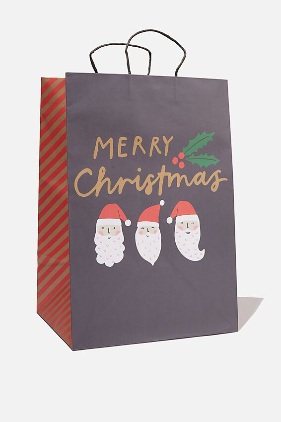 Christmas Gift Bag - Large, TEAM SANTA