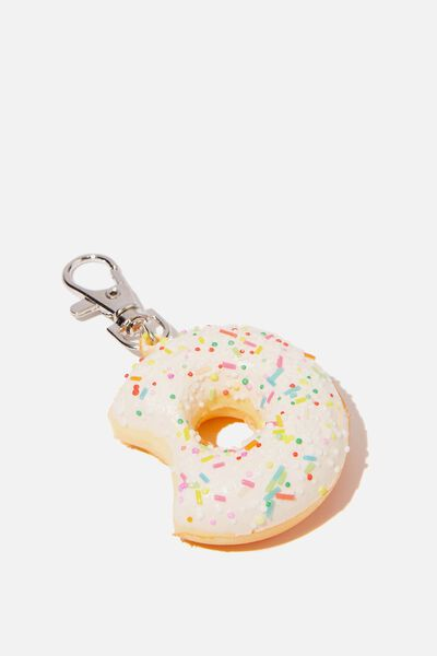 Kids Squishy Bag Charms, WHITE DONUT