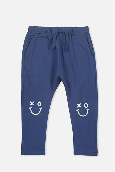 Felix Slouch Pant, CAPTAIN BLUE/SMILEY FACE