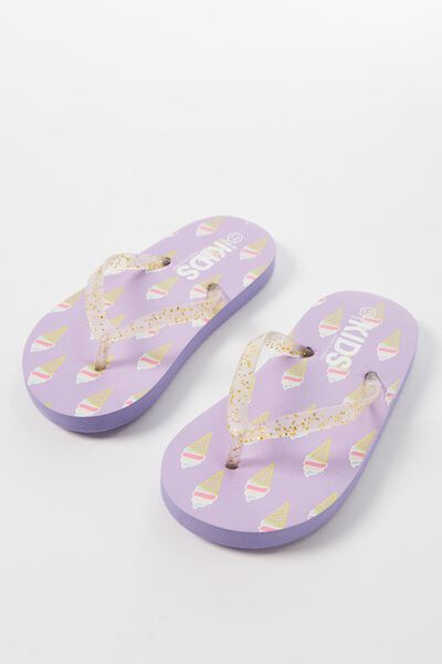 Printed Flip Flop, ICE CREAM
