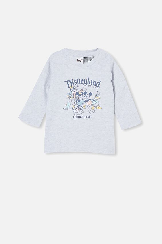 Disneyland Jamie Long Sleeve Tee, LCN DIS CLOUD MARLE/SQUAD GOALS