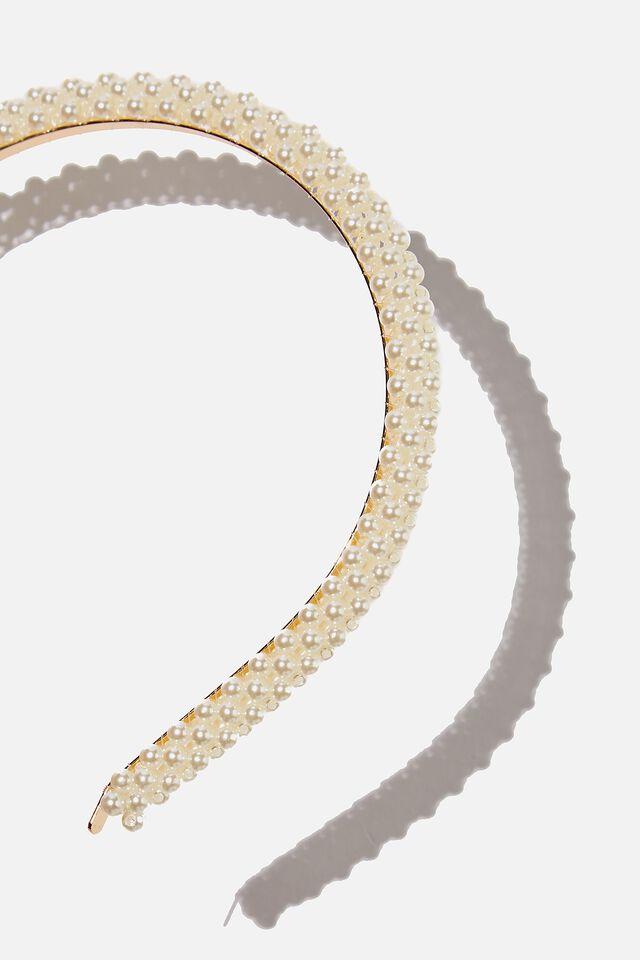Headband - Pearly, PEARLY WHITE