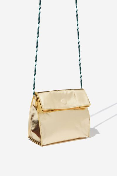 Crossbody Sling Bag, GOLD METALLIC