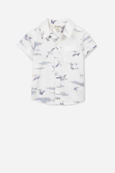 Jackson Short Sleeve Shirt, VANILLA SEAGULLS
